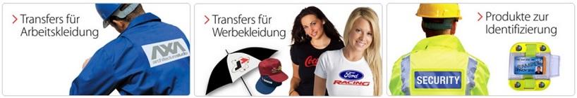 Arbeitsbekleidung, Werbekleidung, Produkte zur Indentifizierung
